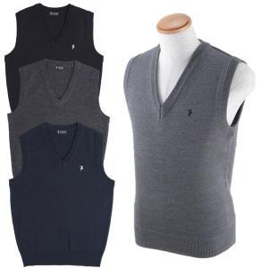 紳士/メンズ  ウール混ベスト  12ゲージ  ブラック/チャコール/杢グレー/ネイビー  TE-328【ゆうパケット不可】 サンキ/sanki|fashionichiba-sanki