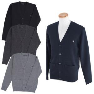 紳士/メンズ  ウール混カーディガン  12ゲージ  ブラック/チャコール/杢グレー/ネイビー  TE-330【ゆうパケット不可】 サンキ/sanki|fashionichiba-sanki