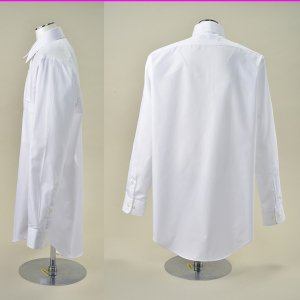 男子 スクール ワイシャツ 白 長袖 無地 150〜185cm Yシャツ|fashionichiba-sanki|04