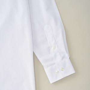 男子 スクール ワイシャツ 白 長袖 無地 150〜185cm Yシャツ|fashionichiba-sanki|05