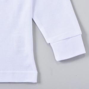 子供/こども 無地 長袖ポロシャツ 白 綿10...の詳細画像2