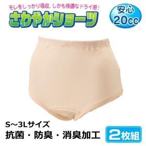 婦人 さわやかショーツ 2枚組 軽失禁 ピーチ 抗菌・防臭・抗菌加工 【ゆうパケット不可】  サンキ/sanki|fashionichiba-sanki