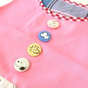 エプロン スヌーピー いろいろクルミボタン サイドボタンエプロン キャラクター 保育士 介護士【1点までゆうパケット可能】 サンキ/sanki|fashionichiba-sanki|03