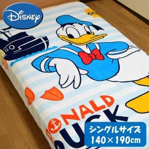 SALE Disney/ディズニー タオルケット シングル 綿シャーリング ドナルド 【ゆうパケット不可】 サンキ/sanki|fashionichiba-sanki