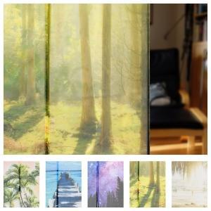 のれん 綺麗な風景 デジタルプリントのれん 暖簾 目隠し 間仕切り 海 パームツリー 夜空 森林 ビーチ 約85x138cm【1点までゆうパケット可】|fashionichiba-sanki