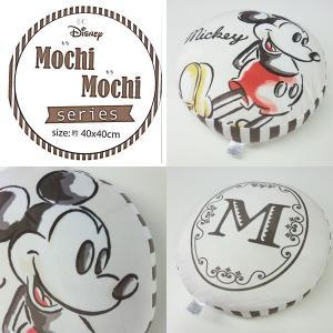 Disney/ディズニー  もちもちクッション  ミッキー  円形  約40×40cm  【ゆうパケット不可】 サンキ/sanki fashionichiba-sanki