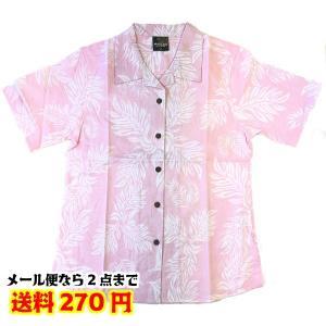 SALE 現品限り 婦人 レディース アロハシャツ ピンクLサイズのみ 在庫処分 31422501【2点までゆうパケット可能】|fashionichiba-sanki