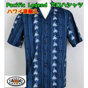 SALE Pacific Legend  紳士/メンズ アロハシャツ  パームツリーストライプ 【ゆうパケット不可】 サンキ/sanki|fashionichiba-sanki