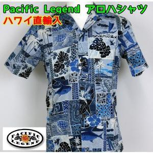SALE Pacific Legend  紳士/メンズ アロハシャツ  パッチワーク 【ゆうパケット不可】 サンキ/sanki|fashionichiba-sanki