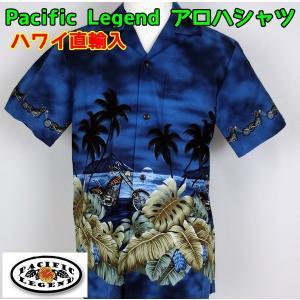 SALE Pacific Legend  紳士/メンズ アロハシャツ チョッパーバイク 【1点までメール便可】|fashionichiba-sanki