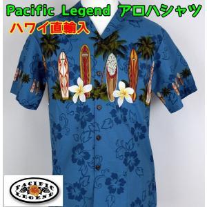 SALE Pacific Legend  紳士/メンズ アロハシャツ  サーフボード&プルメリア 【ゆうパケット不可】 サンキ/sanki|fashionichiba-sanki