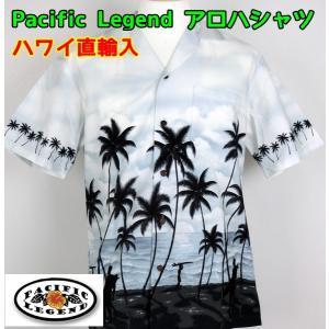 SALE Pacific Legend  紳士/メンズ アロハシャツ  パームツリー 【ゆうパケット不可】 サンキ/sanki|fashionichiba-sanki