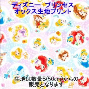 ディズニー/Disney ディズニープリンセス オックス キャラクター生地 プリント 新柄 【数量20(2m)までゆうパケット可能】 サンキ/sanki|fashionichiba-sanki