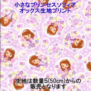 ディズニー/Disney ちいさなプリンセスソフィア オックス キャラクター生地 プリント 新柄 【数量20(2m)までゆうパケット可能】 サンキ/sanki|fashionichiba-sanki