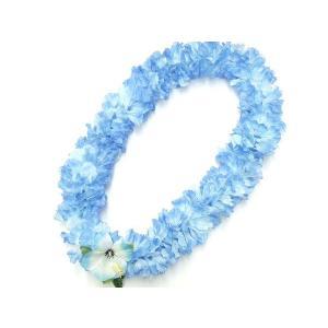 フラダンス レイ/首飾り ハワイアン ラージカーネーション ブルー L-39 14330 【ゆうパケ...