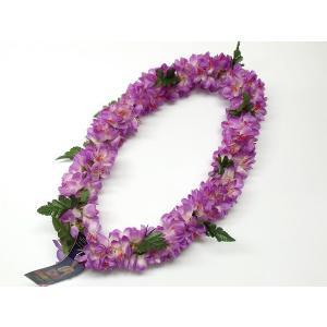 フラダンス レイ/首飾り ハワイアン シェルジンジャー 紫 L-25 12680 【ゆうパケット不可】 サンキ/sanki|fashionichiba-sanki
