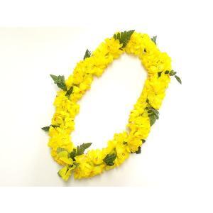フラダンス レイ/首飾り ハワイアン シェルジンジャー 黄 L-7 12683 【ゆうパケット不可】 サンキ/sanki