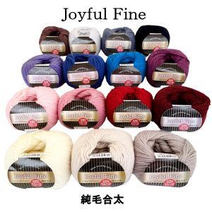 毛糸 純毛 ウール ジョイフルファイン 合太 【ゆうパケット不可】 サンキ/sanki|fashionichiba-sanki