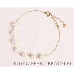 淡水パール ブレスレット イエローゴールド K10|fashionjewelry-em