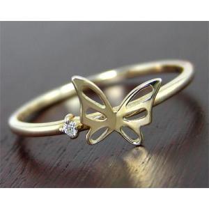 K10YG ダイヤモンド バタフライ 蝶々 リング|fashionjewelry-em
