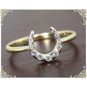A`la CarteK10/K18YG ダイヤモンド ホースシュー 馬蹄モチーフリング|fashionjewelry-em