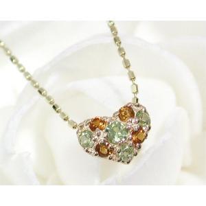 K10 ペリドット×シトリン プチネックレス|fashionjewelry-em