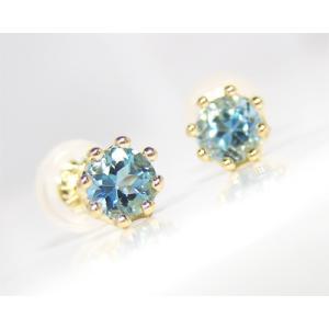 サンタマリア アクアマリン ピアス ゴールド K18|fashionjewelry-em