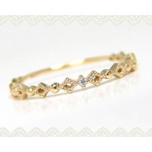 Tiny PinkyK10YG ダイヤモンド ピンキーリング|fashionjewelry-em