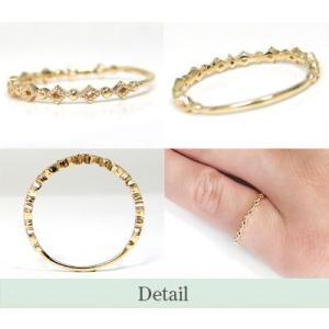 Tiny PinkyK10YG ダイヤモンド ピンキーリング|fashionjewelry-em|03