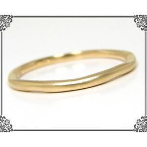地金 デザイン ピンキーリング K10イエローゴールド|fashionjewelry-em