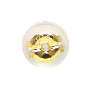 シリコン付ダブルロックキャッチ「1個(片側)」・Lサイズ「大」 K18(ゴールド)タイプ|fashionjewelry-em