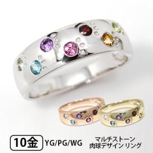 犬 猫 肉球 アミュレット リング K10YG/PG/WG|fashionjewelry-em