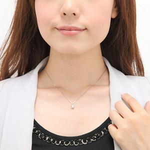 スワロフスキー ジルコニア ネックレス cz 一粒 ティファニー6本爪 約0.4ct〜0.5ct トップのみ販売可 K14WG/K18YG|fashionjewelry-em|03