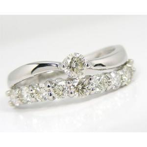 Pt900 プラチナ  1.0ctダイヤモンド ファッションリング|fashionjewelry-em