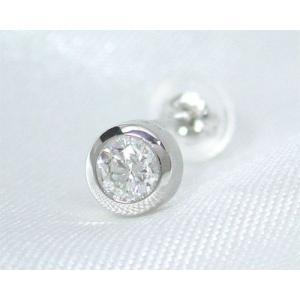 Pt900 プラチナ   カード鑑定書付:0.2ctUP H SI-2 GooD ダイヤモンド 高品質 方耳用ピアス fashionjewelry-em