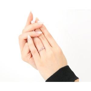 K10PG フラワーデザイン マルチストーン ファッションリング|fashionjewelry-em|02