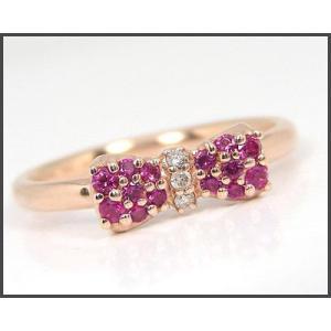 K10PG ルビー リボン リング|fashionjewelry-em