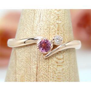 10月の誕生石 K10PG ピンクトルマリン リング|fashionjewelry-em