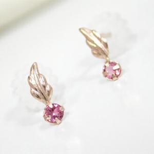 ピンクトルマリン ピアス ピンクゴールド K10PG|fashionjewelry-em