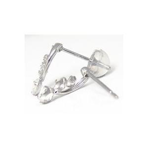 ブルームーンストーン ピアス キュービックジルコニア K14 ホワイトゴールド|fashionjewelry-em|03