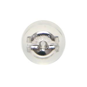 シリコン付ダブルロックキャッチ「1個(片側)」・Lサイズ「大」 K14WG(ホワイトゴールド)タイプ|fashionjewelry-em