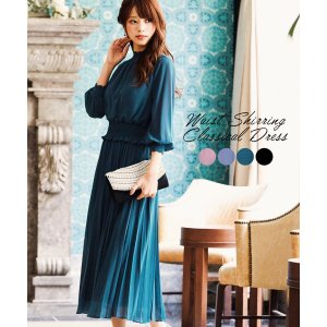 スカラップハイネックプリーツスカートドレス  【サイズ(cm)】M 肩幅 : 36cm ウエスト上が...