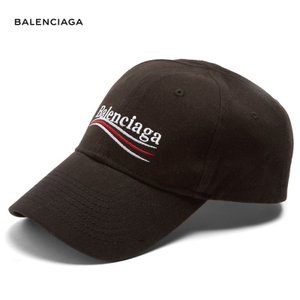 BALENCIAGA バレンシアガ 2018年春夏 Logo-embroidered cotton cap ブラック|fashionplate-fsp