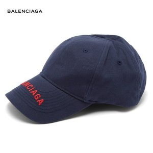BALENCIAGA バレンシアガ 2018年春夏 Logo-embroidered cotton cap ネイビー|fashionplate-fsp