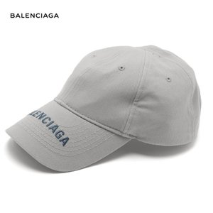 BALENCIAGA バレンシアガ 2018年春夏 Logo-embroidered cotton cap グレー|fashionplate-fsp