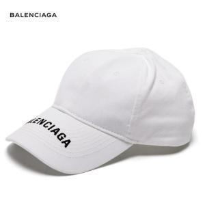 BALENCIAGA バレンシアガ 2018年春夏 Logo-embroidered cotton cap キャップ White ホワイト fashionplate-fsp