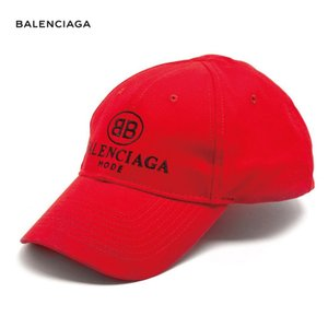 BALENCIAGA バレンシアガ 2018年春夏 Logo-embroidered cotton cap キャップ Red レッド|fashionplate-fsp