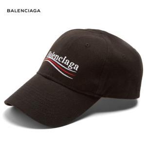 BALENCIAGA バレンシアガ 2018年春夏 Logo-embroidered cotton cap キャップ Black ブラック fashionplate-fsp