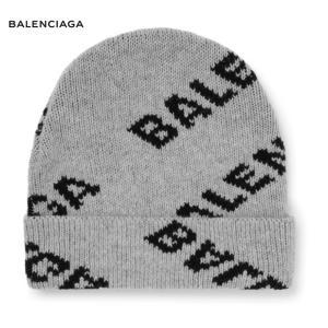 BALENCIAGA バレンシアガ Logo-Intarsia Virgin Wool-Blend Beanie ニット 帽子 グレー 2019-2020年秋冬 fashionplate-fsp