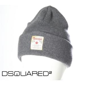 Dsquared2 ディースクエアード 2016年新作 ウールニットキャップ W15KH4003-01W-2124 グレー ヴィンテージ加工 ロゴチケット fashionplate-fsp